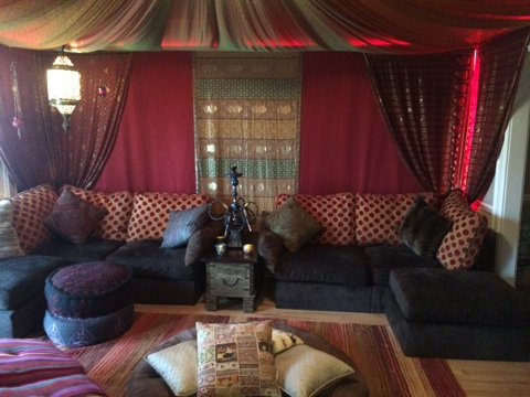 Lovesac Hookah Lounge featuring Sactionals
