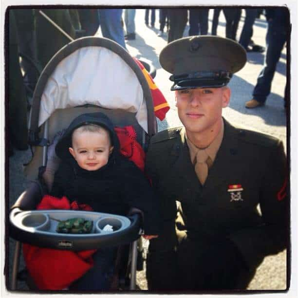 Lance Corporal Lucas after graduating boot camp.